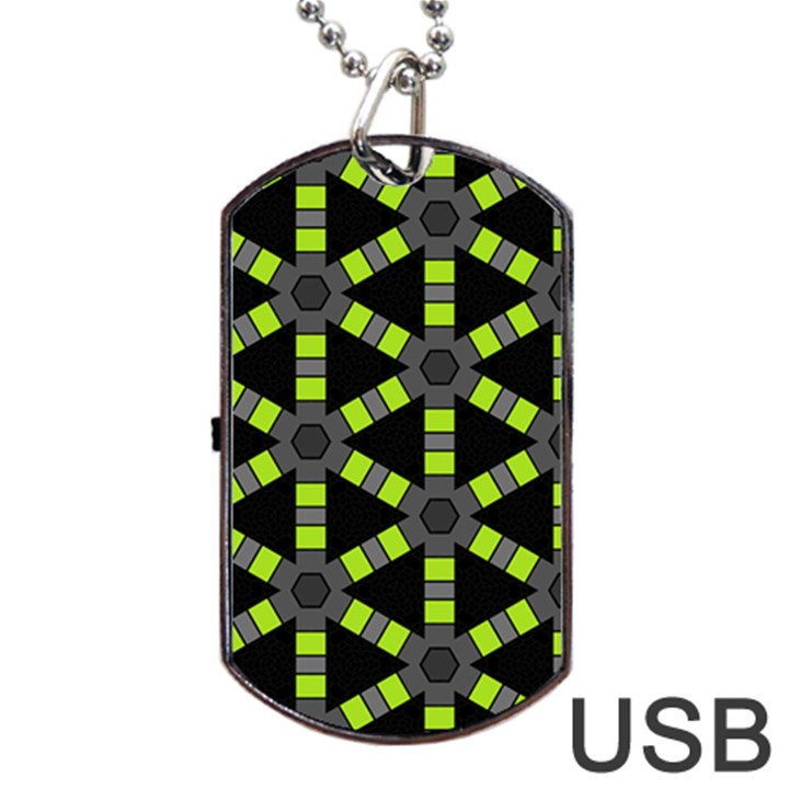 Backgrounds Green Grey Lines Dog Tag USB Flash (One Side)