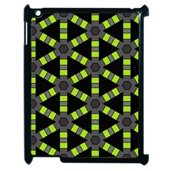 Backgrounds Green Grey Lines Apple Ipad 2 Case (black)