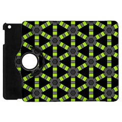 Backgrounds Green Grey Lines Apple Ipad Mini Flip 360 Case