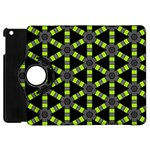 Backgrounds Green Grey Lines Apple iPad Mini Flip 360 Case Front