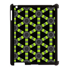 Backgrounds Green Grey Lines Apple Ipad 3/4 Case (black)