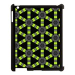 Backgrounds Green Grey Lines Apple iPad 3/4 Case (Black) Front