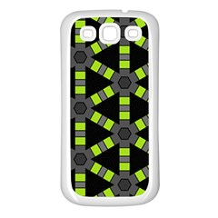 Backgrounds Green Grey Lines Samsung Galaxy S3 Back Case (white)
