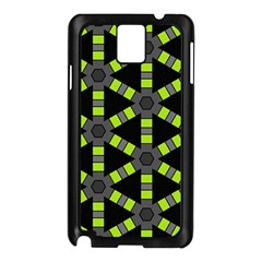 Backgrounds Green Grey Lines Samsung Galaxy Note 3 N9005 Case (black)