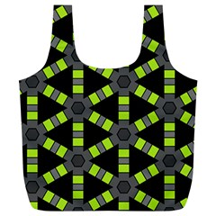 Backgrounds Green Grey Lines Full Print Recycle Bag (xl)