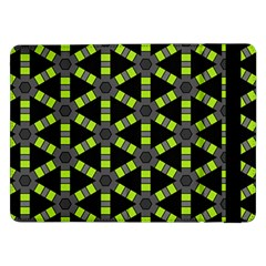 Backgrounds Green Grey Lines Samsung Galaxy Tab Pro 12 2  Flip Case