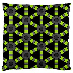 Backgrounds Green Grey Lines Large Flano Cushion Case (two Sides)