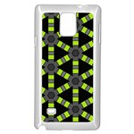 Backgrounds Green Grey Lines Samsung Galaxy Note 4 Case (White) Front