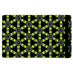 Backgrounds Green Grey Lines Apple Ipad Pro 9 7   Flip Case