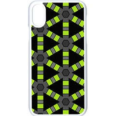 Backgrounds Green Grey Lines Iphone X Seamless Case (white)