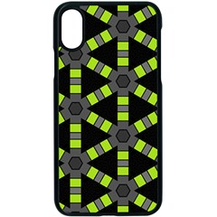 Backgrounds Green Grey Lines Iphone X Seamless Case (black)