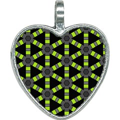 Backgrounds Green Grey Lines Heart Necklace