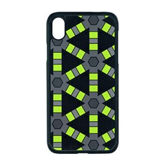 Backgrounds Green Grey Lines Iphone Xr Seamless Case (black)