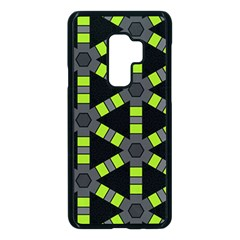 Backgrounds Green Grey Lines Samsung Galaxy S9 Plus Seamless Case(black)