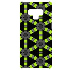 Backgrounds Green Grey Lines Samsung Note 9 Black Uv Print Case