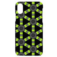 Backgrounds Green Grey Lines Iphone X/xs Black Uv Print Case