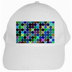Geometric Background Colorful White Cap