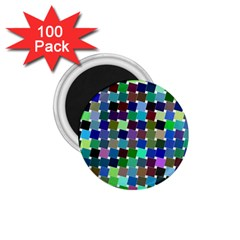 Geometric Background Colorful 1 75  Magnets (100 Pack)
