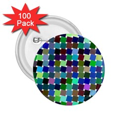 Geometric Background Colorful 2 25  Buttons (100 Pack)
