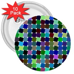 Geometric Background Colorful 3  Buttons (10 Pack)