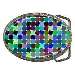 Geometric Background Colorful Belt Buckles