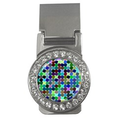 Geometric Background Colorful Money Clips (cz)