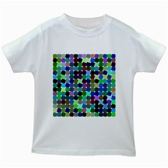 Geometric Background Colorful Kids White T Shirts