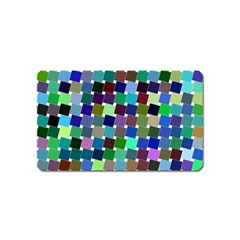 Geometric Background Colorful Magnet (name Card)
