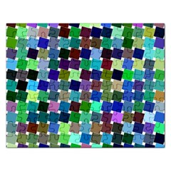 Geometric Background Colorful Rectangular Jigsaw Puzzl