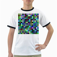 Geometric Background Colorful Ringer T