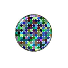 Geometric Background Colorful Hat Clip Ball Marker (4 Pack)