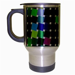 Geometric Background Colorful Travel Mug (silver Gray)