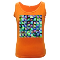 Geometric Background Colorful Women s Dark Tank Top