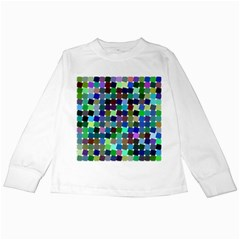 Geometric Background Colorful Kids Long Sleeve T Shirts