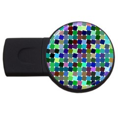 Geometric Background Colorful Usb Flash Drive Round (4 Gb)