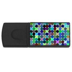 Geometric Background Colorful Rectangular Usb Flash Drive