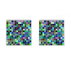 Geometric Background Colorful Cufflinks (square)