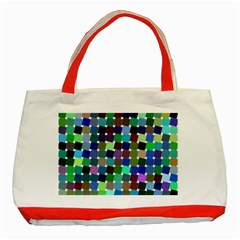 Geometric Background Colorful Classic Tote Bag (red) by HermanTelo