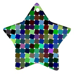 Geometric Background Colorful Star Ornament (two Sides)