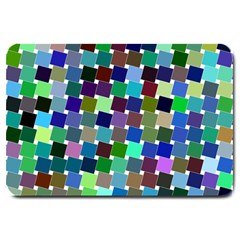 Geometric Background Colorful Large Doormat