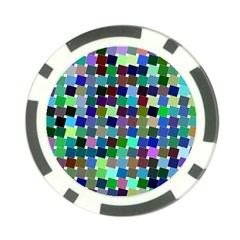 Geometric Background Colorful Poker Chip Card Guard