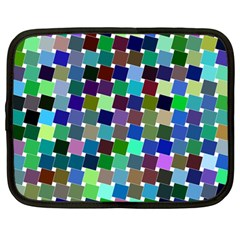 Geometric Background Colorful Netbook Case (large)