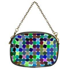 Geometric Background Colorful Chain Purse (one Side)