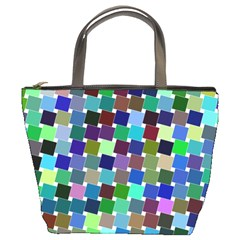 Geometric Background Colorful Bucket Bag