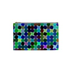 Geometric Background Colorful Cosmetic Bag (small)
