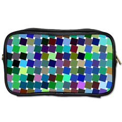 Geometric Background Colorful Toiletries Bag (two Sides)