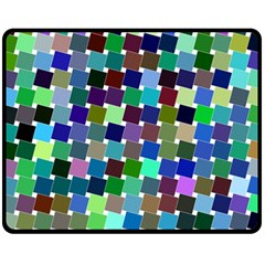 Geometric Background Colorful Fleece Blanket (medium)