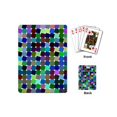 Geometric Background Colorful Playing Cards Single Design (mini)