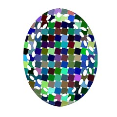 Geometric Background Colorful Ornament (oval Filigree)