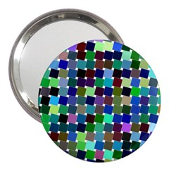 Geometric Background Colorful 3  Handbag Mirrors